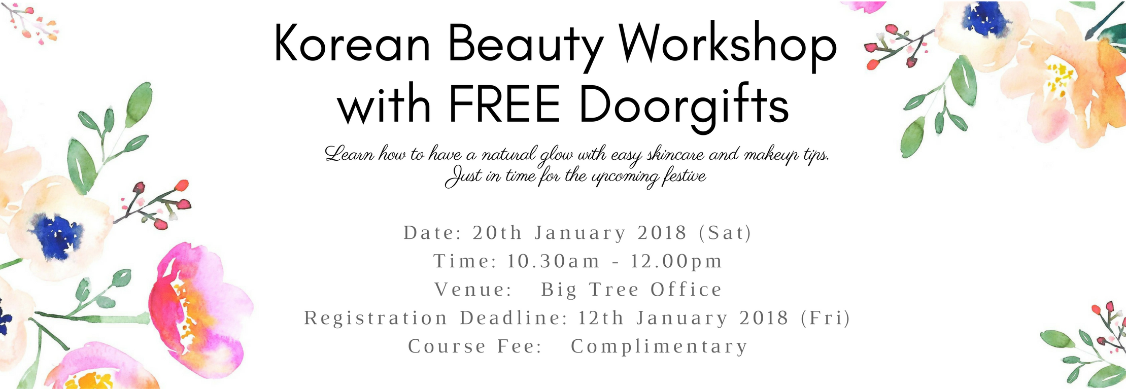 Korean Beauty Workshop with FREE Doorgifts