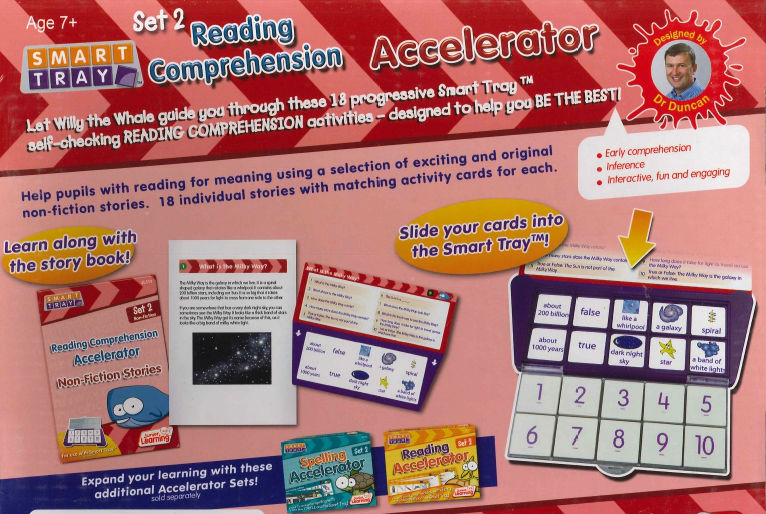 Smart Tray Reading Comprehension Accelerator set 2 3